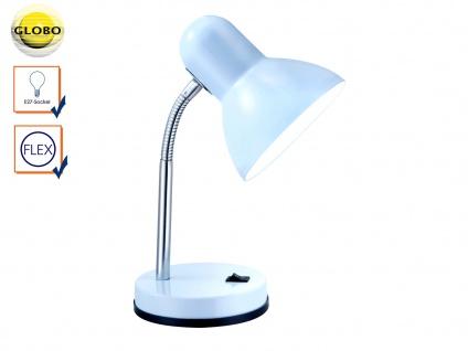 Tischleuchte BASIC weiß flexibel, Schreitischlampe Leselampe Arbeitsleuchte Büro