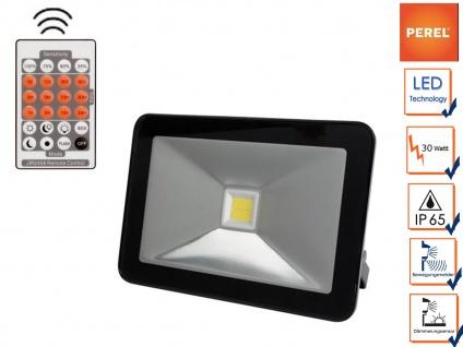 30W LED Strahler mit Bewegungsmelder und Fernbedienung, IP65 Außenwandleuchte