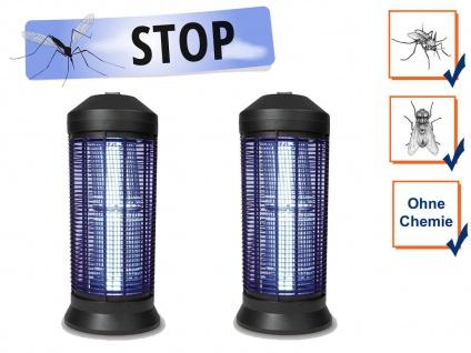 2er Set Profi Stechmückenfallen mit UV elektrischer Mückenschutz für Gastronomie
