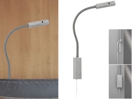 LED Leselampe Betonoptik dimmbar Bettlampe Leuchte für Kopfteil Sofa Wandmontage