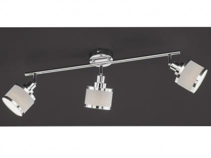 LED Deckenstrahler 3 runde Stoff lampenschirme Spots schwenkbar - Deckenlampen