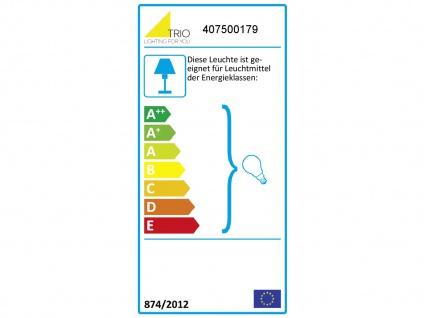 Ausgefallene LED Stehlampe mit STOFF Schirm höhenverstellbar in schwarz/gold E27 - Vorschau 4