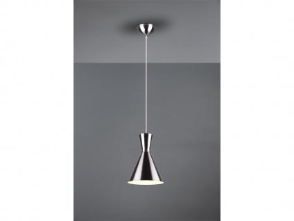 LED Pendelleuchte 1 flammig Metall Lampenschirm Ø20cm Silber über Esszimmertisch