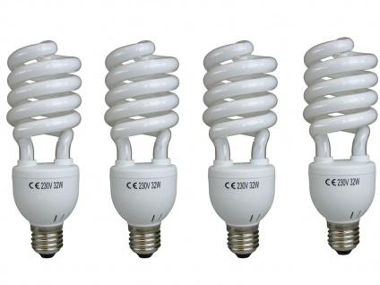 4er Set Sparpack E27 Energiesparleuchtmittel Spirale 30W kaltweiß, Energielampe