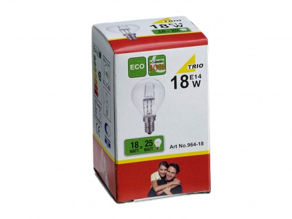 Dimmbares Halogen Leuchtmittel in warmweiß, E14, 18W, 190 Lumen, Energieklasse C