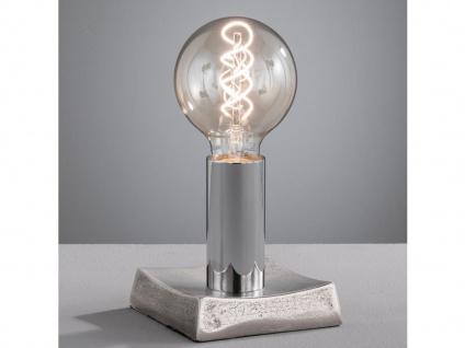 LED Tischlampe eckig, moderne Tischleuchte im Industrial Design, Wohnzimmerlampe