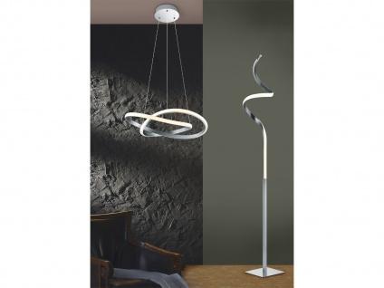 LED Stehleuchte mit Sensor Dimmer COURSE Metall Nickel matt Ø 21cm, 145cm hoch - Vorschau 4