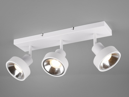 RETRO Deckenstrahler 3-flammig Weiß Beleuchtung Flur, Diele und Treppenhaus
