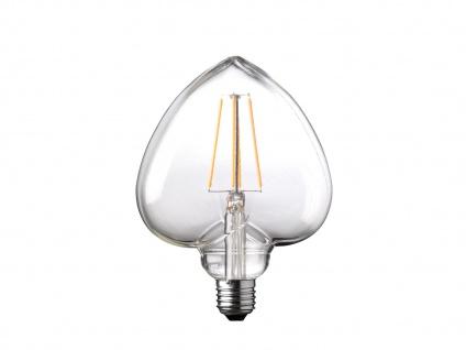 FILAMENT LED Leuchtmittel Herzform 4 Watt, 300 Lumen, 1800 Kelvin, E27-Sockel - Vorschau 2