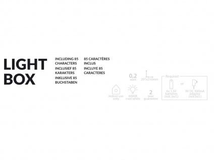 Light-Box Leuchtkasten A4 mit 85 Buchstaben + Symbolen, batteriebetrieben - Vorschau 5