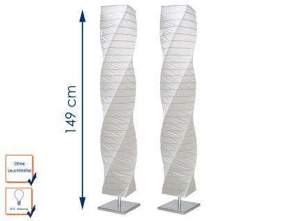 2er SET gedrehte Stehleuchten Papierlampen, 149 cm hoch, 2 x E14