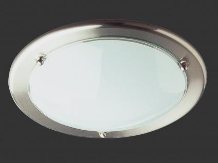 TRIO Deckenleuchte / Deckenschale, 1 x E27, Ø 30cm, Opalglas/Nickel