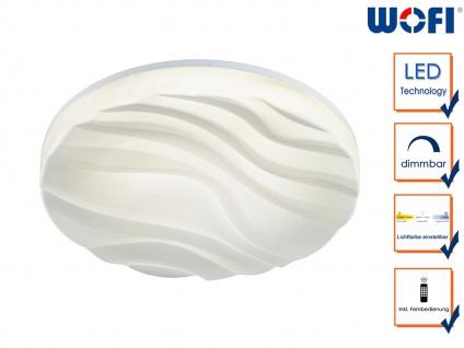 Runde LED Deckenleuchte flach, Ø 70 cm Fernbedienung für Dimmer & Farbtemperatur