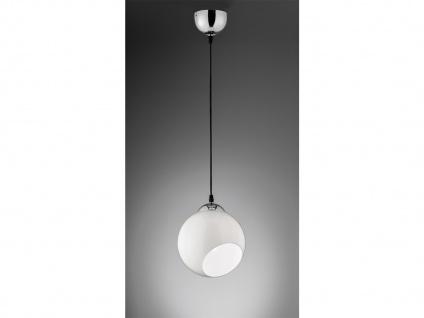Designer Pendelleuchte Lampenschirm Kugelform Ø20cm aus Glas 1 flammig in weiß