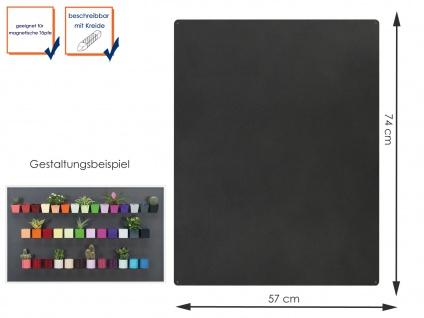 Wandaufbewahrung Wanddeko Memoboard Magnettafel Metall 74 x 57cm, KalaMitica