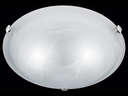 TRIO Deckenleuchte / Deckenschale rund, 2 x E27, Ø 40cm, Glas weiss