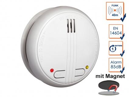 Funkrauchmelder 40m Reichweite bis 20 Melder koppelbar + Magnethalter