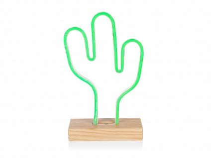 Retro Tischleuchte Dekoleuchte Kaktus Licht grün Höhe ca. 33cm Wohnraumleuchte