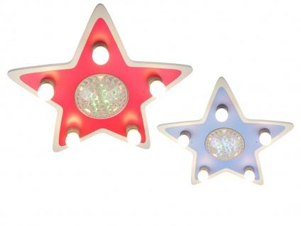 LED Kinder Deckenleuchte Stern Lampe Kinderzimmer 4 Farben zaubern Lichteffekte - Vorschau 2