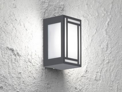 2x LED Außenwandleuchte Edelstahl Kunststoff Wandlampe außen Fassadenbeleuchtung - Vorschau 5