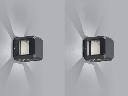 2er SET LED Wegeleuchten, Terrassenlampen aus ALU in anthrazit IP65, Höhe 15cm