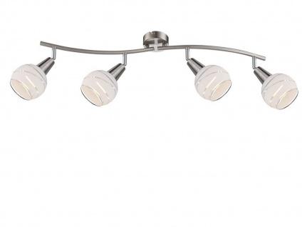 Deckenlampe ELLIOTT 4flammig Lampenschirme Glas, Deckenleuchte Strahler Wohnraum