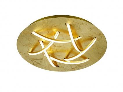 Ausgefallene LED Schlafzimmerleuchte Ø 45cm goldfarbig / weiß mit Switch Dimmer