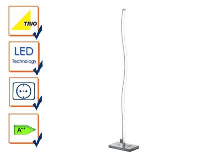 Trio Stehleuchte Marius modern aluminium gebürstet LED Standleuchte