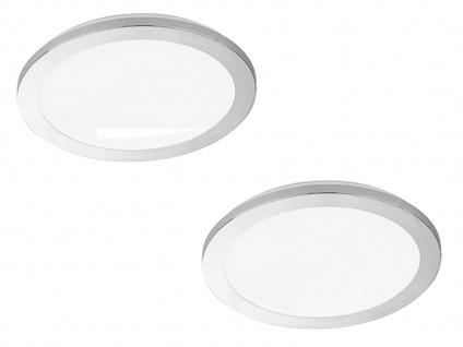 Dimmbares LED Deckenlampenset Badezimmerleuchten Ø 30cm, Chrom Acryl weiß, IP44
