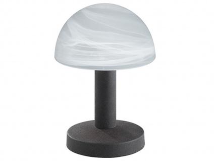 LED Touch Nachttischlampen Rostfarben mit Glasschirm dimmbar - fürs Schlafzimmer - Vorschau 2