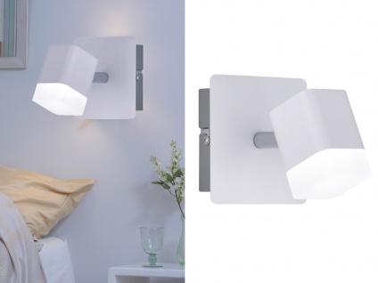 2 keine LED Wandstrahler 1 flammig Weiß matt 10x10xcm - Treppenhausbeleuchtung