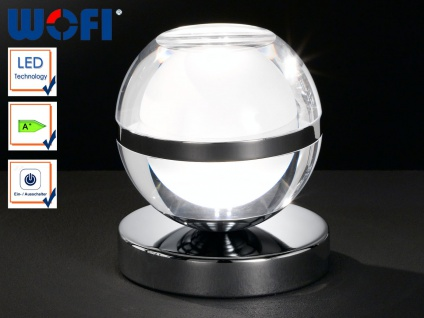 LED Tischlampe Retro, Kugelleuchte 12 cm, Wofi-Leuchten