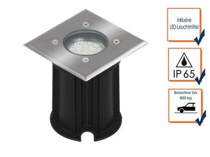 6er-Set LED-Bodeneinbaustrahler Outdoor, eckig befahrbar 800 kg IP65 - Vorschau 2