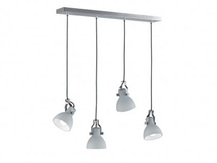 Grosse 4-fl. Pendelleuchte bis 150cm höhenverstellbar Glas Lampenschirme in weiß