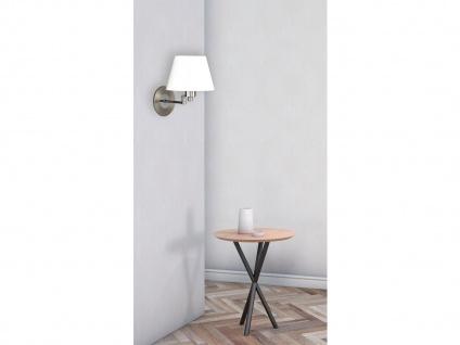 Wandleuchte Bettlampe Silber mit Schalter & Lampenschirm Stoff Weiß verstellbar - Vorschau 3