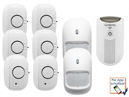 9tlg. WiFi Alarmsystem / Hausalarm mit Bewegungsmelder + App Steuerung