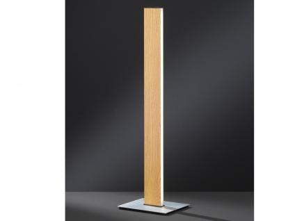 Dimmbare LED Nachttischleuchte in Holz-Optik mit Gestensteuerung H. 52, 5cm -Flur - Vorschau 5