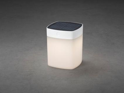 Solar LED Leuchte Weiß 3-Stufen Dimmer Höhe 14, 5cm IP44 Terrassenbeleuchtung - Vorschau 4