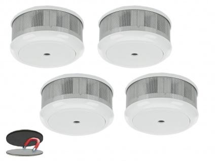 4er-Set Mini 10-Jahres Rauchwarnmelder + Magnet-Set mit VDS & DIN EN14604 - Vorschau 2