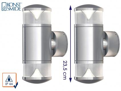 2 Stk Konstsmide Energiespar Außenwandleuchte MONZA Uplight Downlight Wandlampe