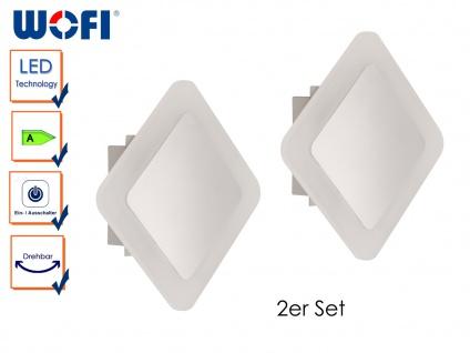 2er Set LED Wandleuchte IMPULS, 17, 5 x 17, 5cm, drehbar, Wandlampen Wandleuchte