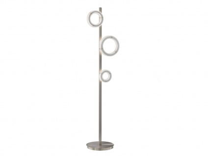 Mehrflammige LED Stehlampe Wohnzimmerlampe Design Ringe mit Dimmer & Farbwechsel