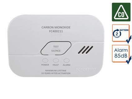 Kohlenmonoxid-Melder mit 2 Jahres Batterie, 10-Jahres Sensor Gasmelder CO-Melder