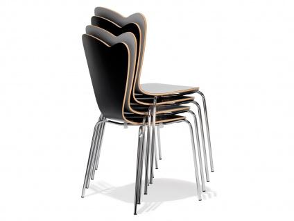 2er Design Stuhl HEART Stapelstuhl Esszimmerstuhl Bistrostuhl Schalenstuhl - Vorschau 5