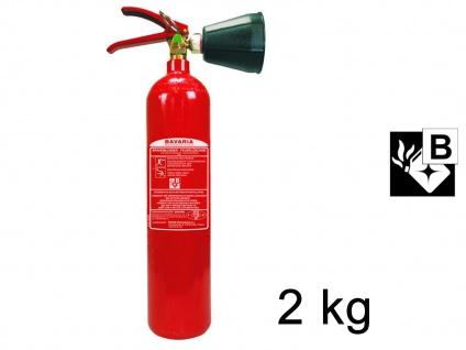 CO²-Feuerlöscher Feuer-Löscher 2Liter, rückstandslos Löschen