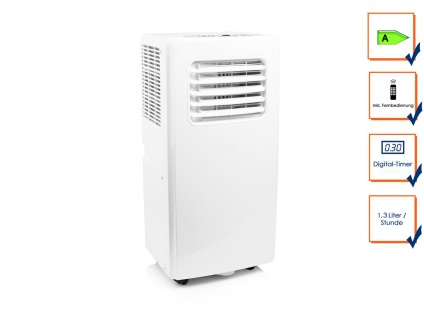 Monoblock Klimagerät MOBILE Klimaanlage mit Abluftschlauch für Wohnung 3, 0kW