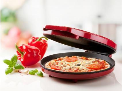 Elektrischer Mini Pizzaofen für Tisch - Flammkuchenofen Tischofen Tischbackofen