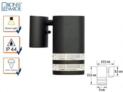 Wandleuchte MODENA Aluminium schwarz, Downlight, GU10, Höhe 15, 5 cm