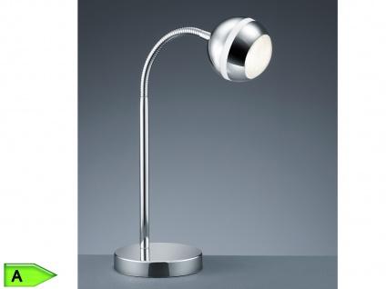 LED-Tischlampe, ink. 1x4, 2W LED, Höhe 35cm, Flexarm, Kunststoff chrom