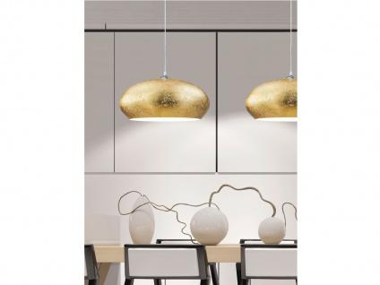 Retro LED Pendelleuchte Lampenschirm Metall in Gold Ø 50cm - edle Esstischlampen - Vorschau 3
